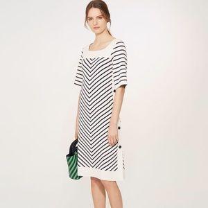 Tory Burch  Anya Stripe Knit Shift Dress